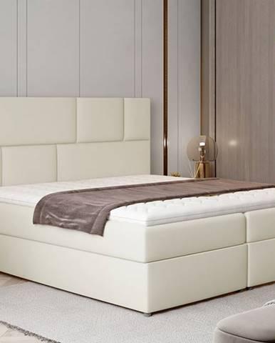 Ferine 145 čalúnená manželská posteľ s úložným priestorom béžová