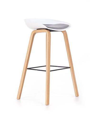 H-86 barová stolička biela