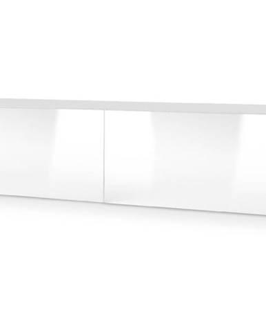 Livo 160W tv stolík na stenu biela