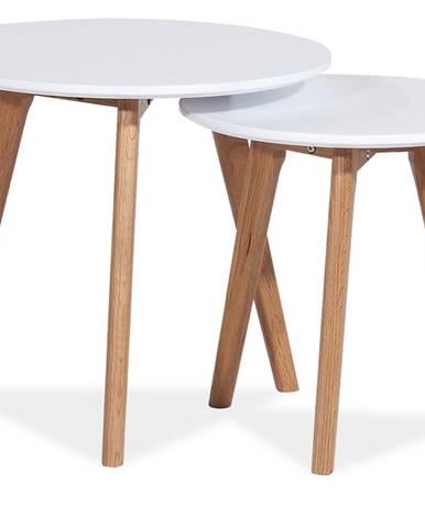 Milan S2 okrúhly konferenčný stolík (2 ks) biela