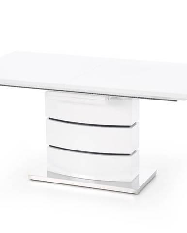 Nobel rozkladací jedálenský stôl biely lesk