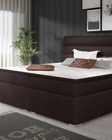 Spezia 160 čalúnená manželská posteľ s úložným priestorom tmavohnedá