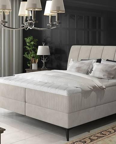 Altama 180 čalúnená manželská posteľ s úložným priestorom svetlosivá (Soro 83)