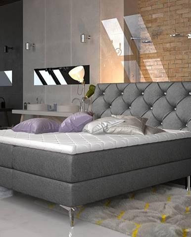 Amika 160 čalúnená manželská posteľ s úložným priestorom čierna (Dora 96)