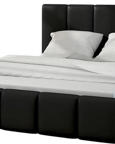 Evora 140 čalúnená manželská posteľ čierna (Soft 11)