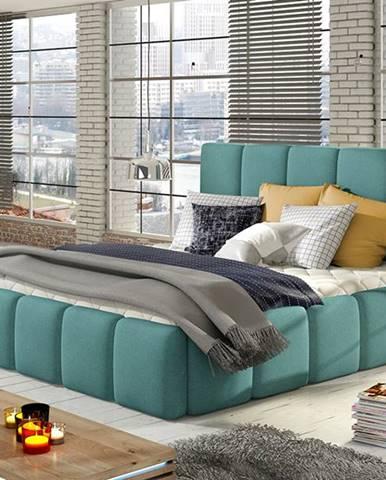 Evora 180 čalúnená manželská posteľ mentolová