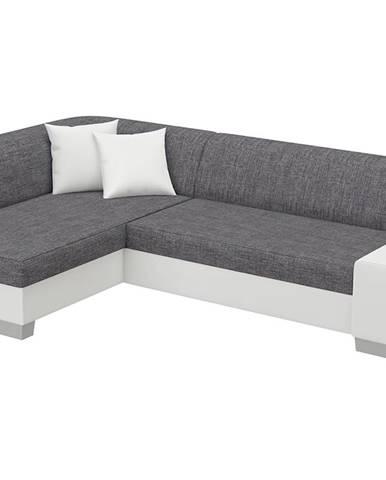 Ferol L rohová sedačka s rozkladom a úložným priestorom sivá (Sawana 05)
