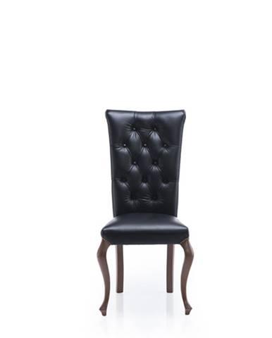 Krzeslo V rustikálna jedálenská stolička čierna