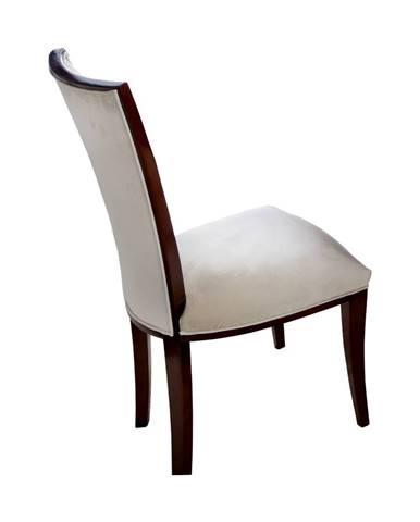 Krzeslo VI jedálenská stolička béžová (Velvet-B1 380)