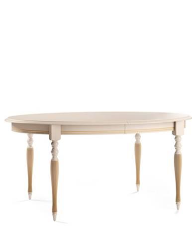 Verona T-E rustikálny rozkladací jedálenský stôl krém patyna