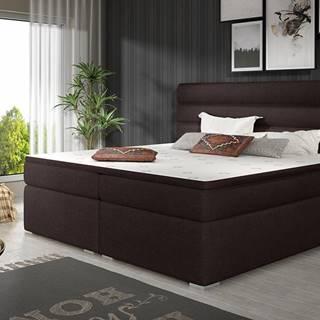 Spezia 140 čalúnená manželská posteľ s úložným priestorom tmavohnedá
