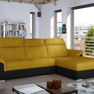 Tarragon P rohová sedačka s rozkladom a úložným priestorom žltá