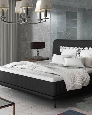 Ancona 140 čalúnená manželská posteľ čierna (Sawana 14)