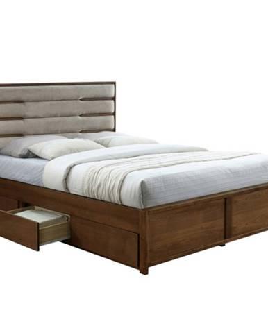 Betra 183 manželská posteľ s roštom a úložným priestorom orech