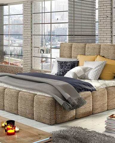 Evora 160 čalúnená manželská posteľ cappuccino