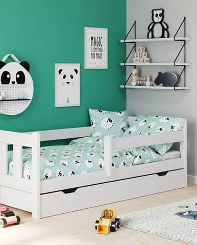 Marinella 80 drevená posteľ s prísteľkou biela