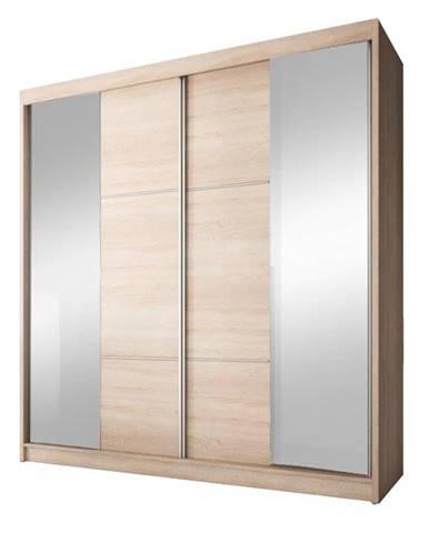 Multi 36 2D šatníková skriňa s posuvnými dverami dub sonoma