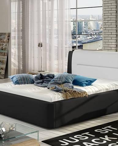Portima 140 čalúnená manželská posteľ čierna