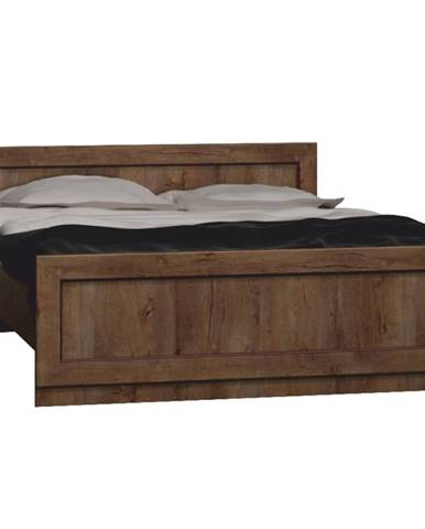 Tedy T20 160 rustikálna posteľ s roštom dub lefkas