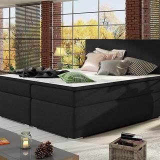 Diana 140 čalúnená manželská posteľ s úložným priestorom čierna (Sawana 14)