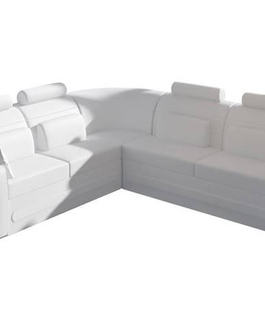 Bolzano L rohová sedačka s rozkladom a úložným priestorom biela