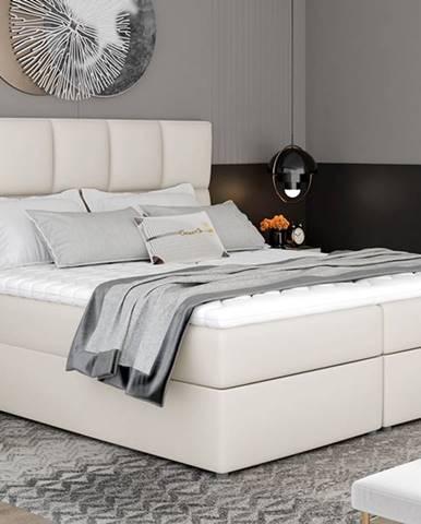 Grosio 165 čalúnená manželská posteľ s úložným priestorom béžová