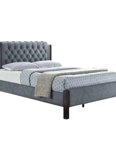 Karola New manželská posteľ s roštom sivá