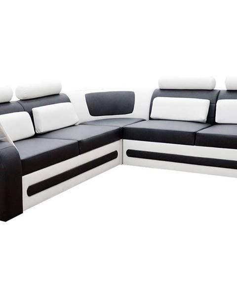 NABBI Bolzano P rohová sedačka s rozkladom a úložným priestorom čierna (Soft 11)