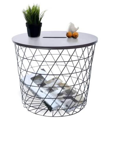 Batis Typ 1 okrúhly príručný stolík grafit