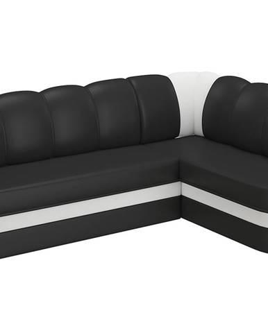 Belluno P rohová sedačka s rozkladom a úložným priestorom čierna (Soft 11)