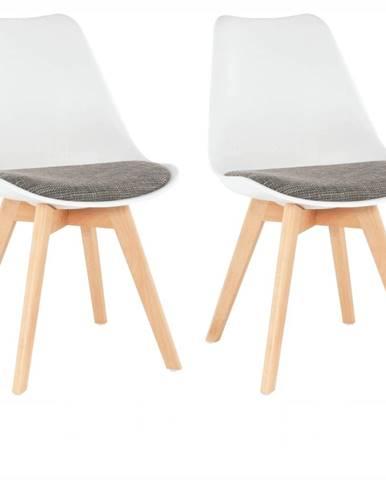 Damara jedálenská stolička (2 ks) biela