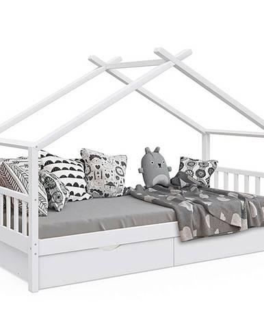 Elisia jednolôžková posteľ s roštom biela