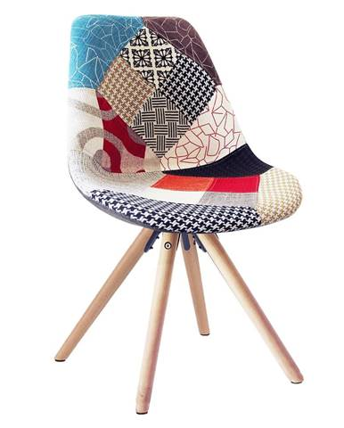 Gloria jedálenská stolička farebný patchwork