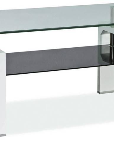 Lisa II sklenený konferenčný stolík biela