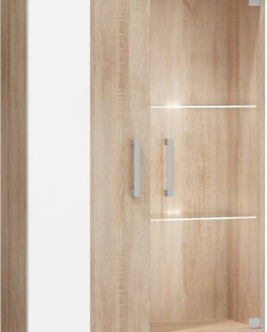 Stella STE-06 vitrína na stenu sonoma svetlá