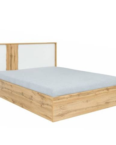 Vodena 160 manželská posteľ s osvetlením dub wotan
