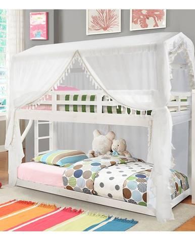 Zefire poschodová posteľ s roštom biela