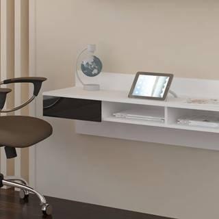 Uno pc stolík na stenu biela