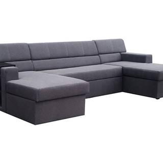 Matosino L rohová sedačka u s rozkladom a úložným priestorom čierna