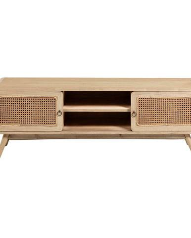 Svetlohnedý TV stolík z masívu La Forma Nalu, 150 x 50 cm