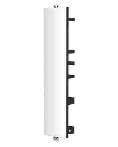 Otočné zrkadlo s úložným priestorom Wireworks Cosmos Dark, výška 114 cm