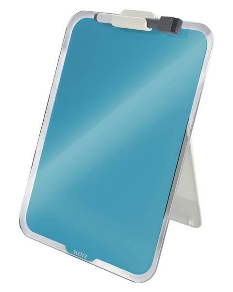 Leitz Modrý sklenený flipchart na stôl Leitz Cosy, 22 x 30 cm