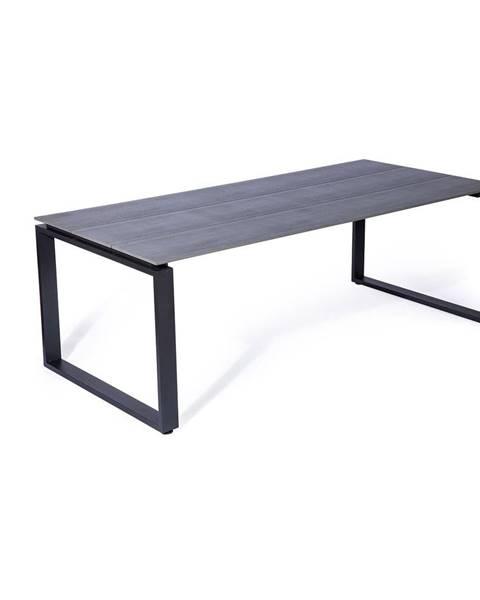 Le Bonom Sivý záhradný stôl Le Bonom Strong, 100 x 210 cm