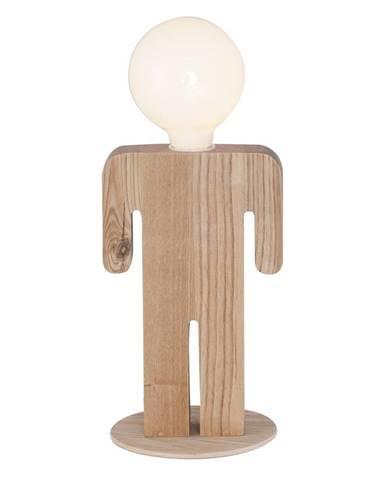 Drevená stolová lampa Homemania Christian