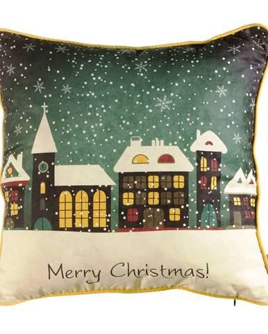 Vianočná obliečka na vankúš Mike&Co.NEWYORK Comfort Snowy, 43 × 43 cm