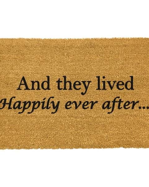 Artsy Doormats Rohožka z prírodného kokosového vlákna Artsy Doormats Happily Ever After, 40 x 60 cm