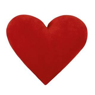 Bellatex Vankúšik Srdce červené, 42 x 48 cm