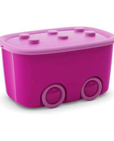 KIS Úložný box Funny - ružový, 46 l