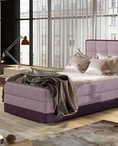 Alessandra 90 L čalúnená jednolôžková posteľ ružová