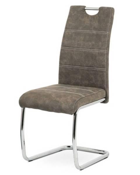 Sconto Jedálenská stolička ZOEY hnedá/kov